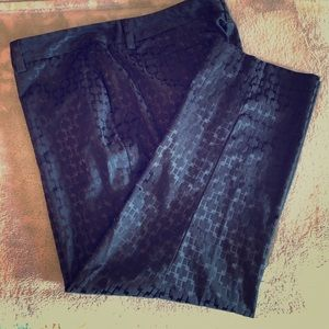 Land's End petite patterned straight ankle pants